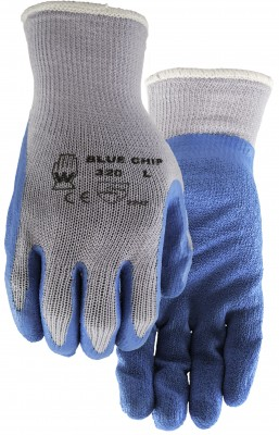 Pair of Grey/blue Watson Blue Chip Gloves