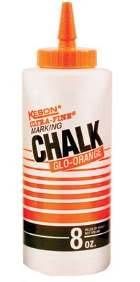 Keson Ultra-Fine Orange Chalk 8 Ounces