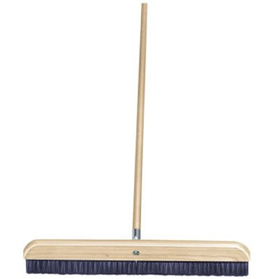 "36"" Wood Concrete Finish Broom with Handle"