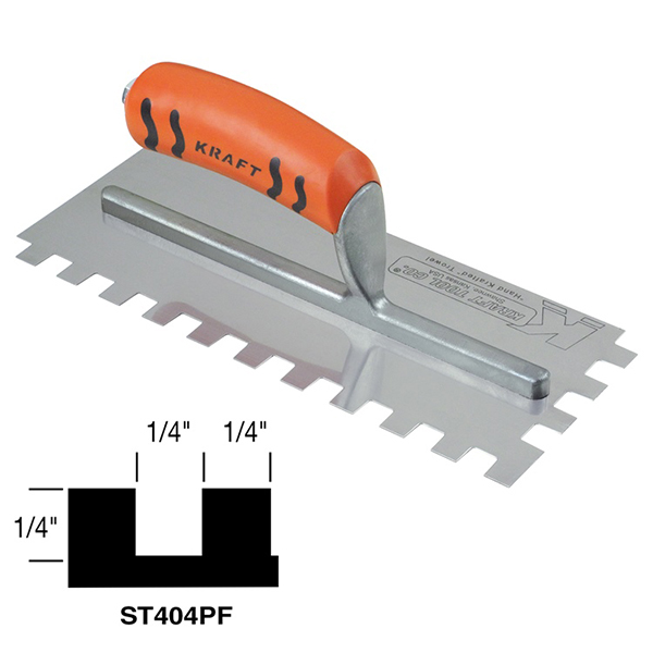 "1/4"" Square Notch Trowel w/Proform Handle"