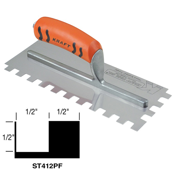 Square-notch Trowel with ProForm® Handle