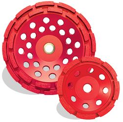 Pearl Pro-V Concrete and Masonry Cup Wheel, Single Row