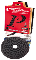 "Pearl Abrasive Buff Polishing Pad, Wet, 4"", Navy Blue"