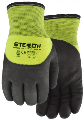 Pair of black/yellow Watson Stealth Cold War Gloves