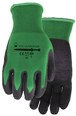 Pair of green/black Watson The Gladiator Gloves