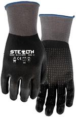Pair of black/Grey Watson Stealth Blackbird Gloves