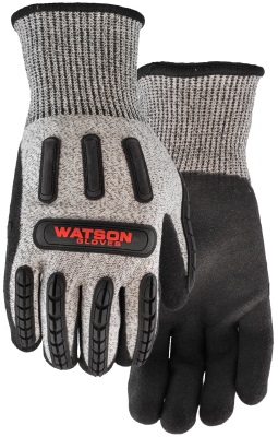 Pair of Grey/black Watson Stealth Xtreme Hellcat Gloves