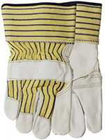 Pair of white/yellow Watson Econo Grain Gloves