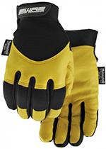 Pair of black/yellow Watson Flextime Gloves