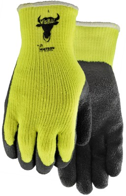 Pair of yellow/black Watson Visibull Gloves