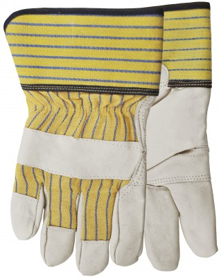 Pair of white/yellow Watson Poor Boy Gloves
