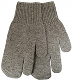 Pair of Grey Watson Wooly Mammoth One Finger Mittens