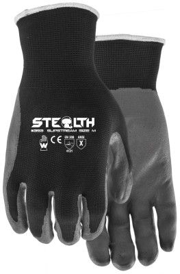 Pair of black/Grey Watson Stealth Slip Stream Gloves