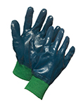 Pair of blue/green Forcefield Nitrile Coated Knit Wrist Gloves