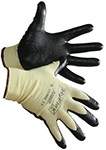 Pair of yellow/black Ansell HyFlex 11-500 Cut Resistant Gloves