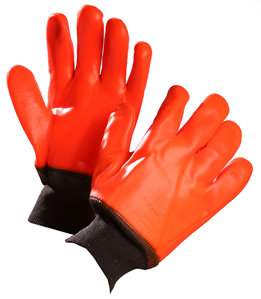 Pair of orange/black Forcefield Winter PVC Gloves