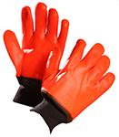 Pair of orange/black Forcefield Winter PVC Gloves