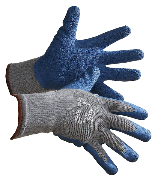 Pair of Grey/blue Ansell PowerFlex Gloves