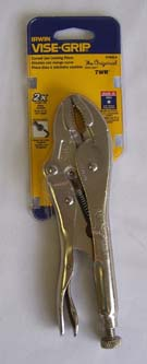 Vise-Grip Pliers with Curved Jaw