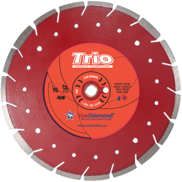 "Star Diamond Blade, Trio Combo Star, 12"", 10412"
