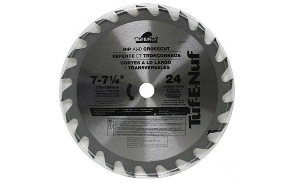 "Carbide Blade Task 7-1/4""x24T 04323"