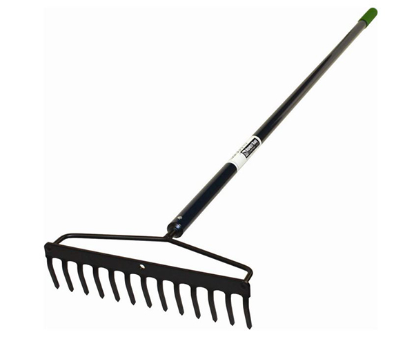 16 Tine Heavy Duty Black Rake