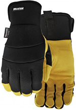 Pair of black and yellow Watson Viper Gloves