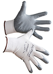 White and Grey Ansell HyFlex Gloves