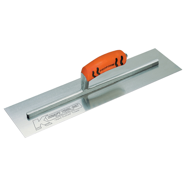 Kraft Tool Cement Trowel 24 x 4, w/Plas Handle