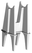 """Rebar Chair H, 4"""", Plastic"""