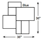 Brickform Grand Ashlar Mat (Blue)