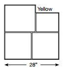 Brickform Large Ashlar Cut Slate (Yellow)