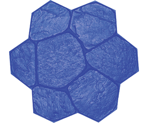 Brickform Large Random Stone Mat (Blue)