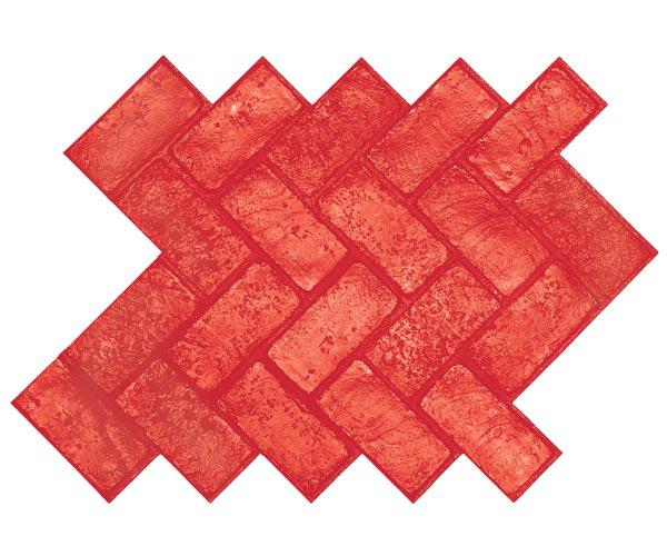 Brickform Herringbone Used Brick Mat
