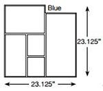 Brickform Ashlar Cut Slate Stamp Blue
