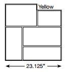 Brickform Ashlar Cut Slate Stamp Yellow