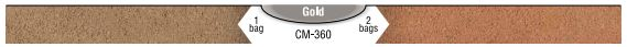 Interstar Pigments Mortar Color Gold CM-360
