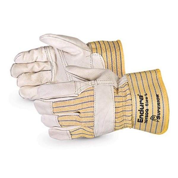 Pair of white/yellow Superior Endura FitterGloves