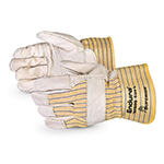 Pair of white/yellow Superior Endura Fitter Gloves