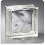 "Pittsburgh Corning Glass Block Thinline Decora 6""x6""x3"""