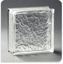 "Pittsburgh Corning Glass Block Thinline Icescapes 6""x8""x3"""