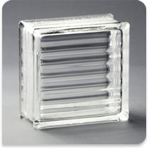 "Pittsburgh Corning Glass Block Argus Parallel Flutes, 8""x8""x4"""