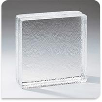 "Pittsburgh Corning Glass Block HP Vistabrik Stippled, 8""x8""x3"""