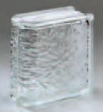 "Pittsburgh Corning Glass Endblock Icescapes 8""x8""x4"""