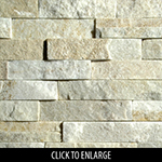 ErthCoverings 3D Cream Quartzite 40F Stone