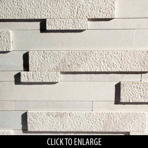 ErthCoverings Strips Coral White CW-RP Stone