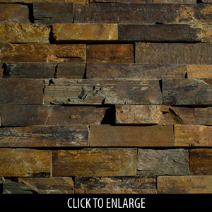 ErthCoverings Ledgestone Outback Brown 24N Stone
