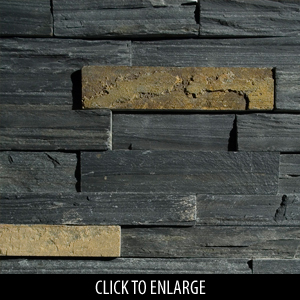 ErthCoverings Ledgestone Springwood Black 18N Stone