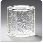 "Pittsburgh Corning Glass Block Hedron Icescapes, 8"" Corner"