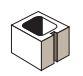 "Expocrete Half Concrete Block 8"""
